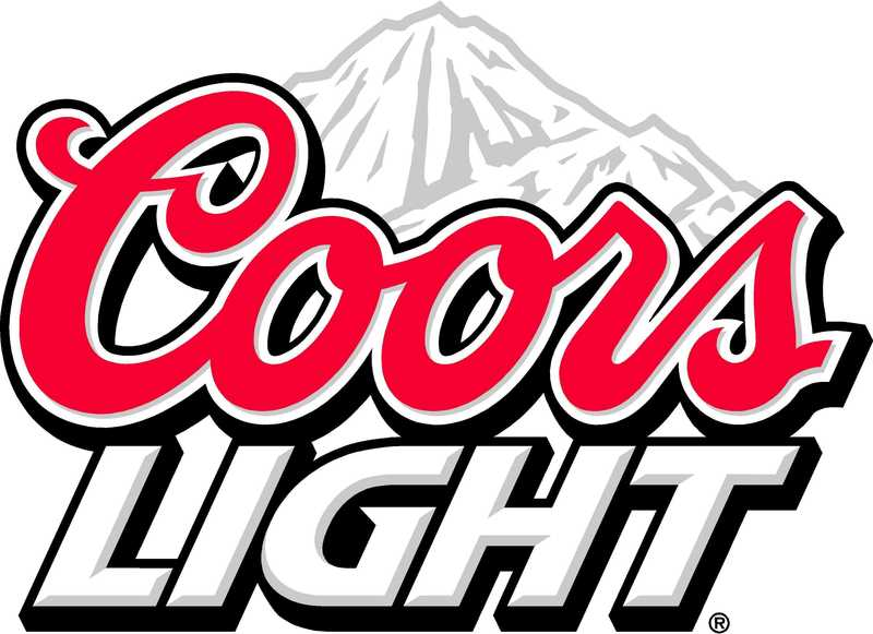 Large coors light logo