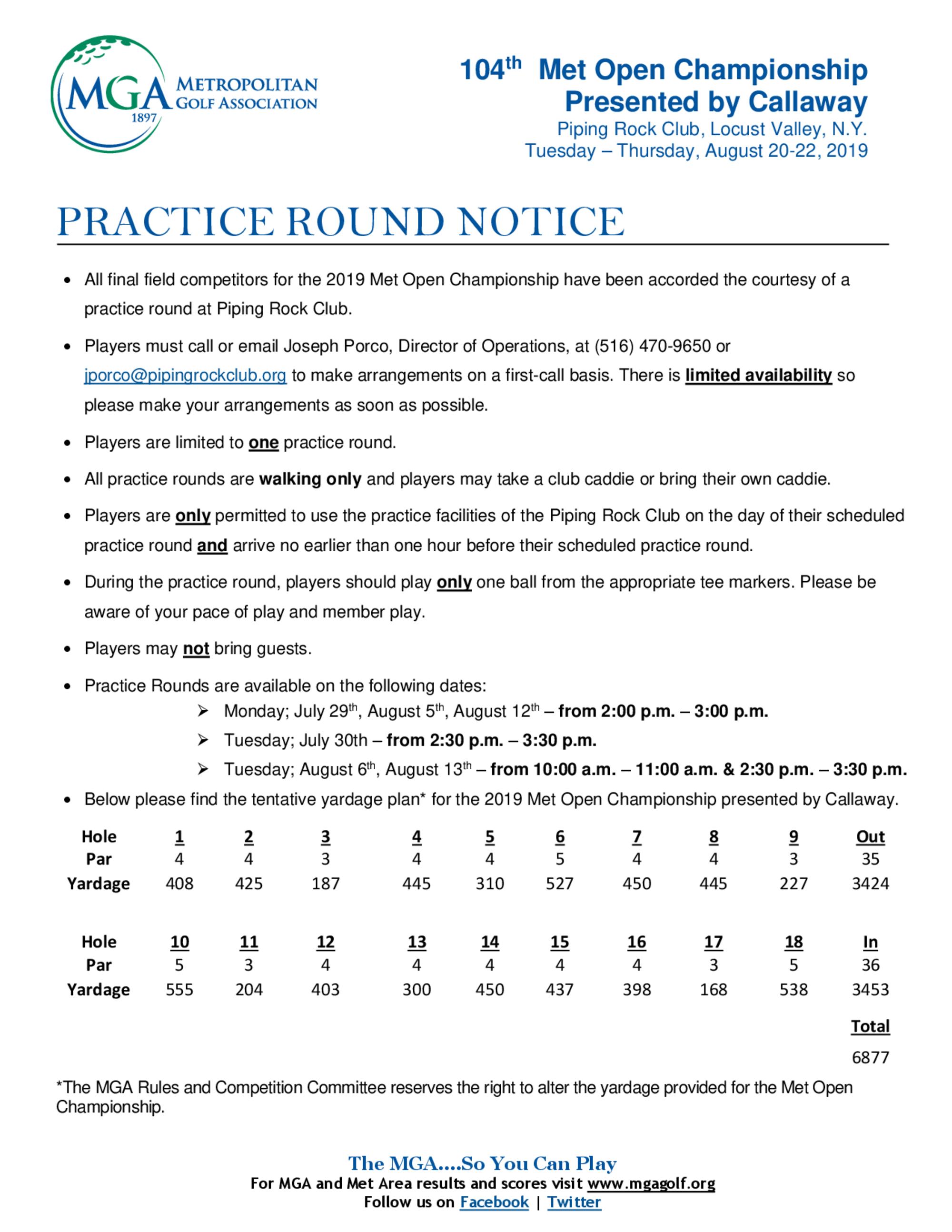 Practice round notice  prc 1
