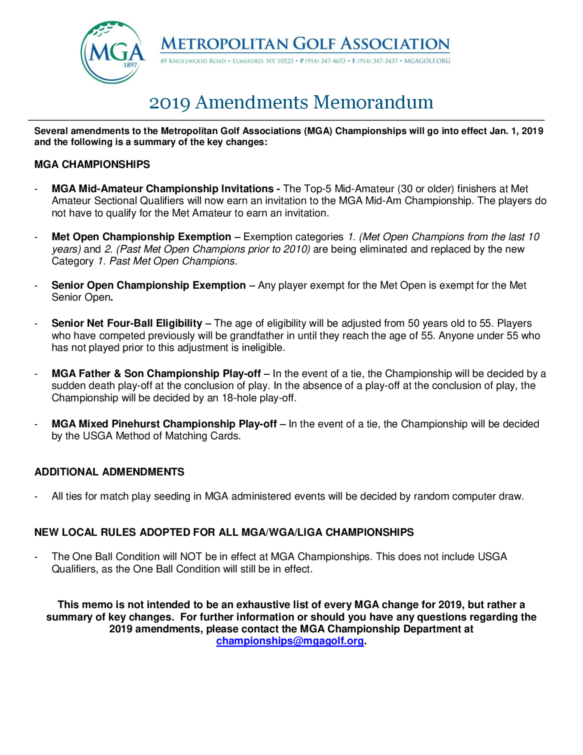 Mga 2019 amendments memorandum 1