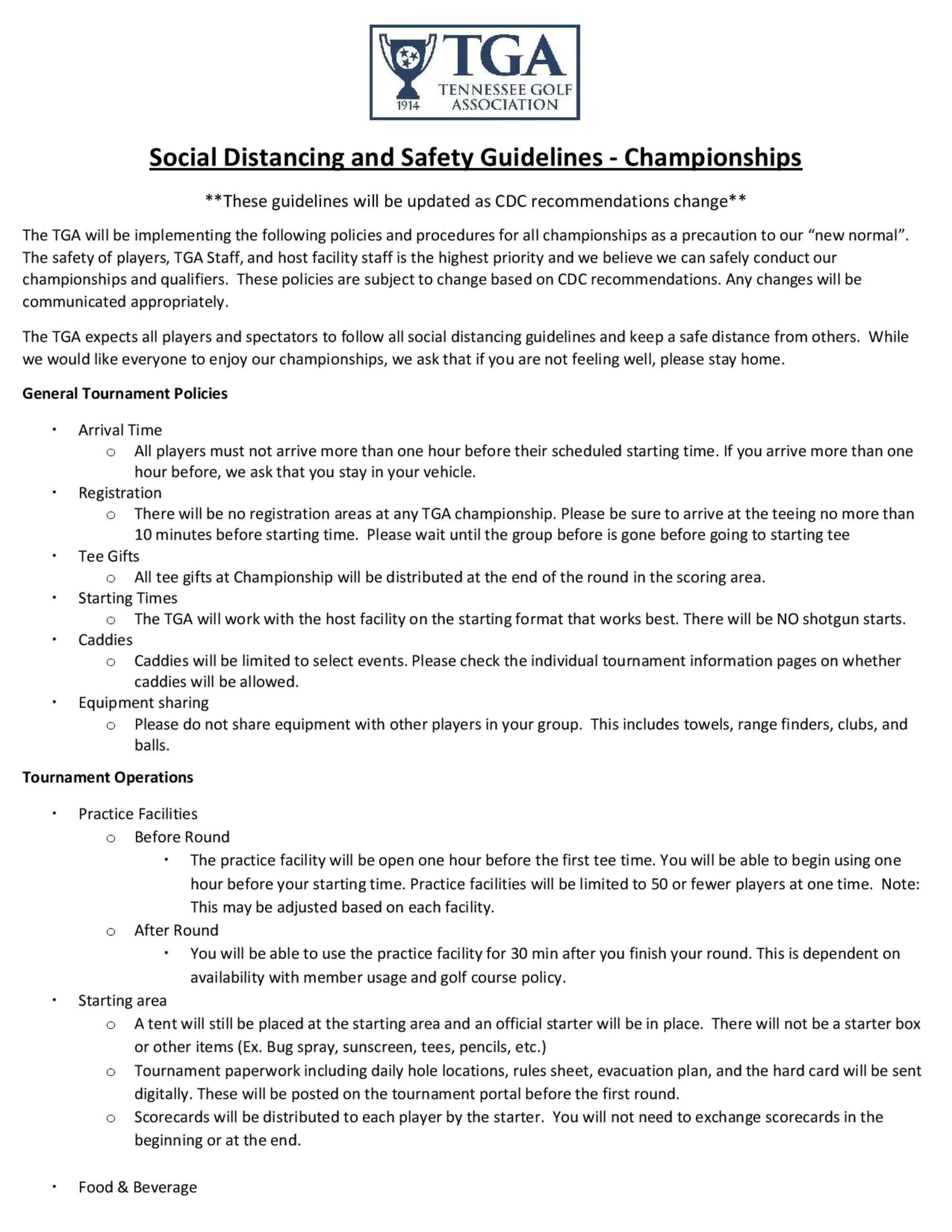 Tga social distancing and safety guidelines   championships 1