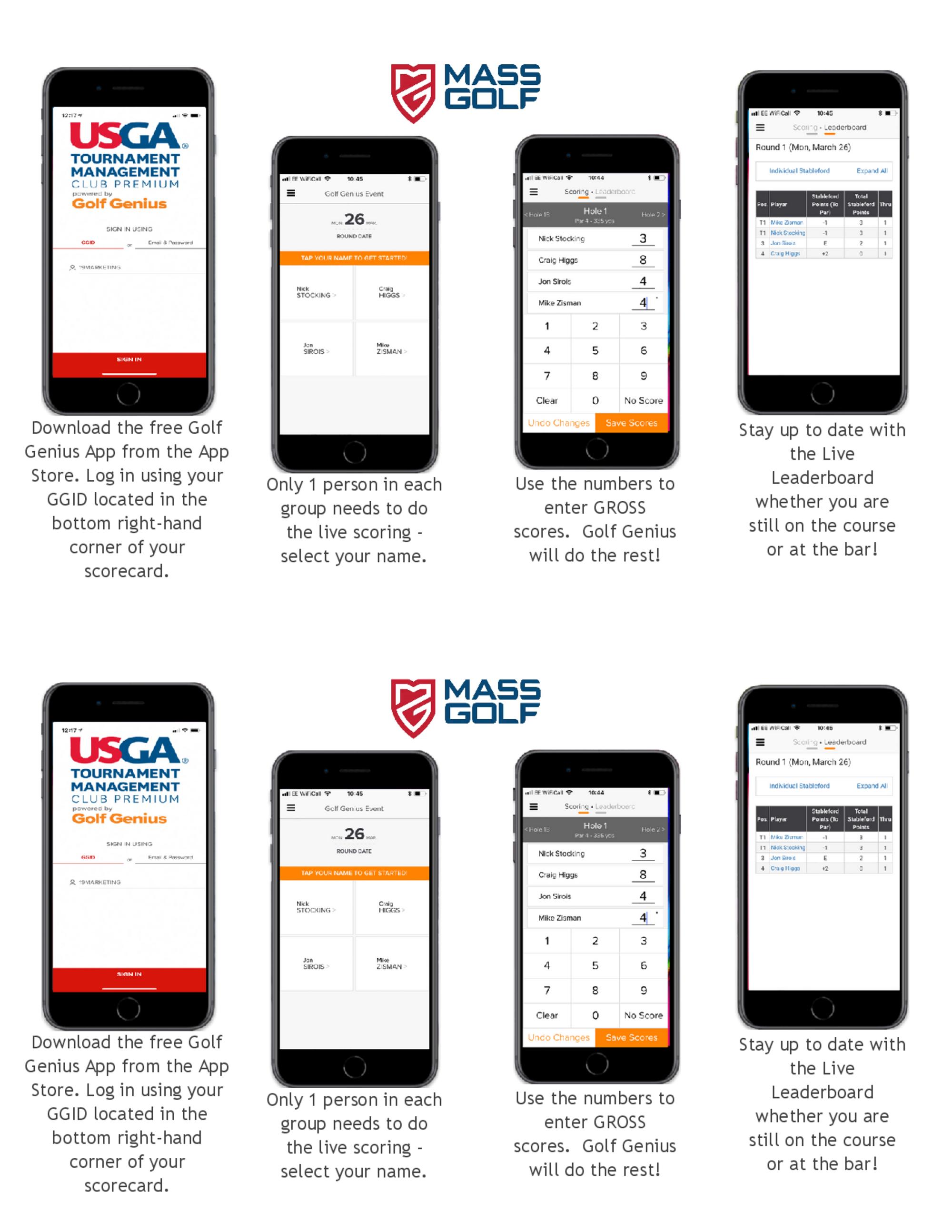 Golf genius app scoring instructions 1