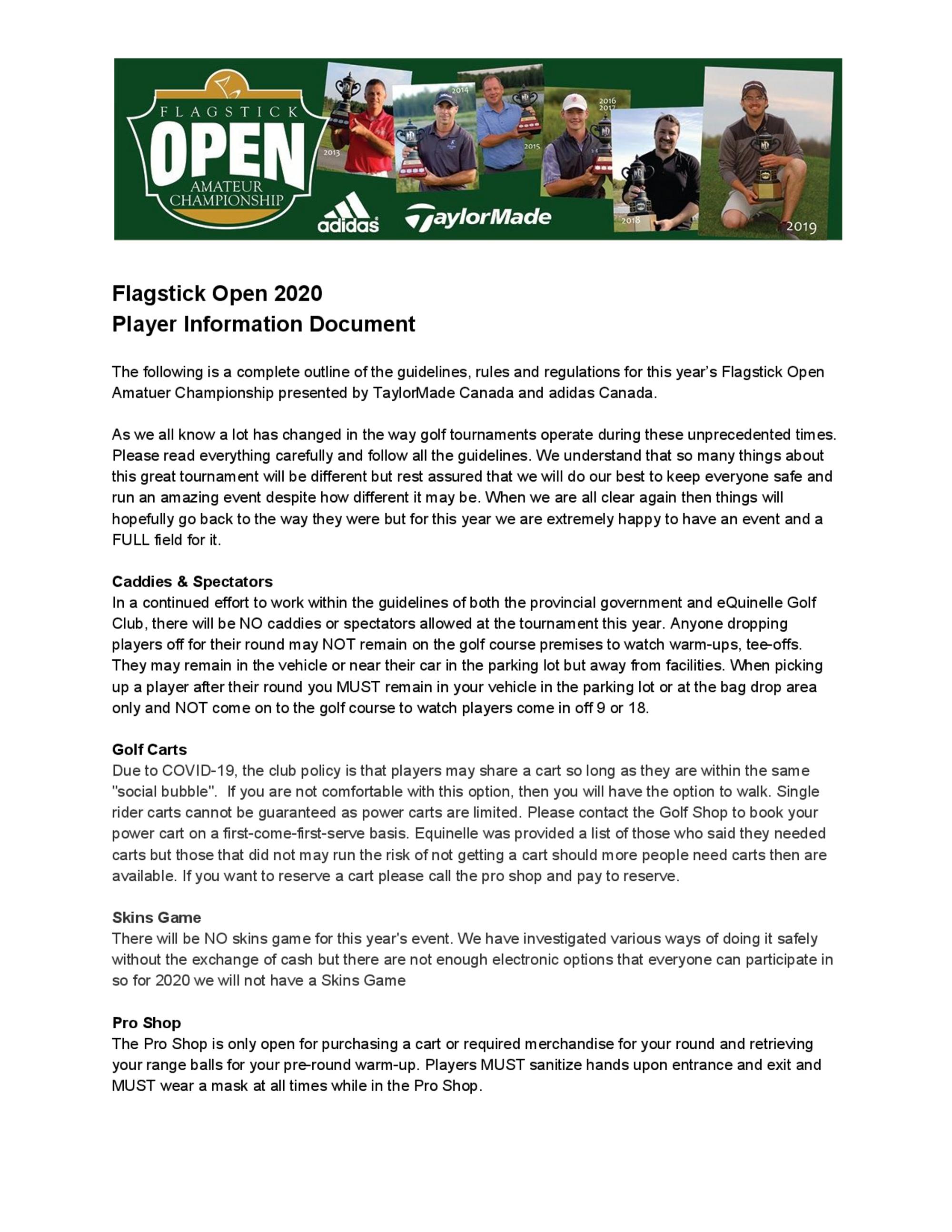 Flagstick open 2020 player information 1