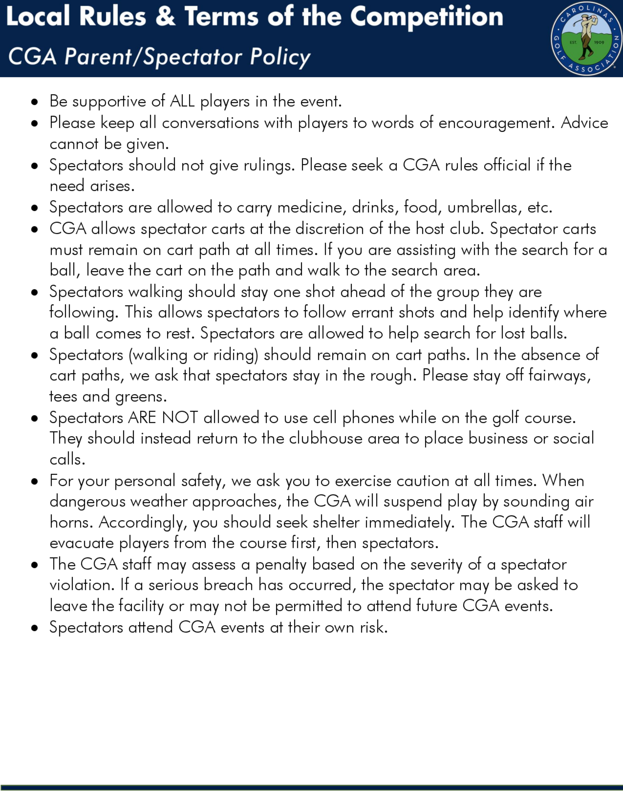 Cga parent policy 1