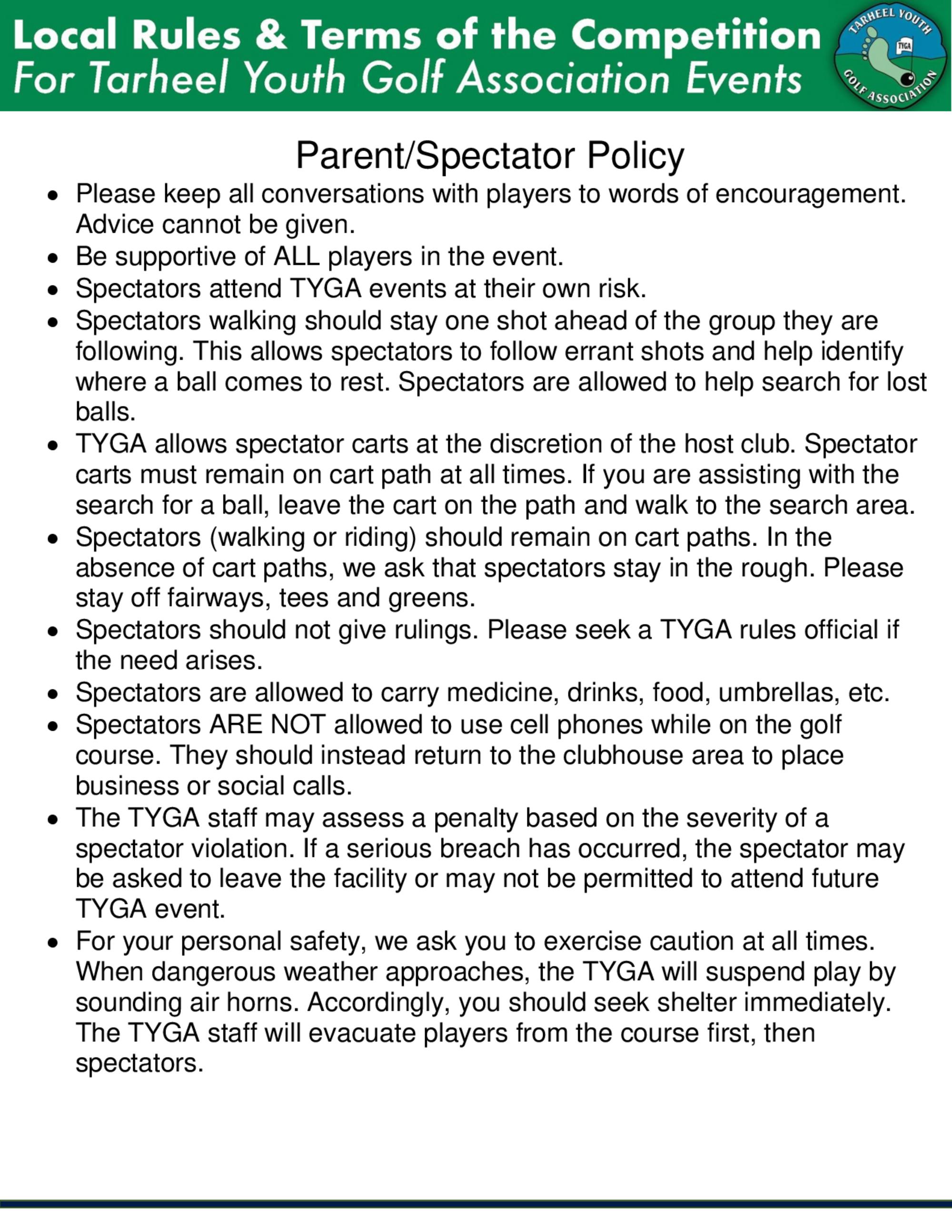 Tyga parent policy 1