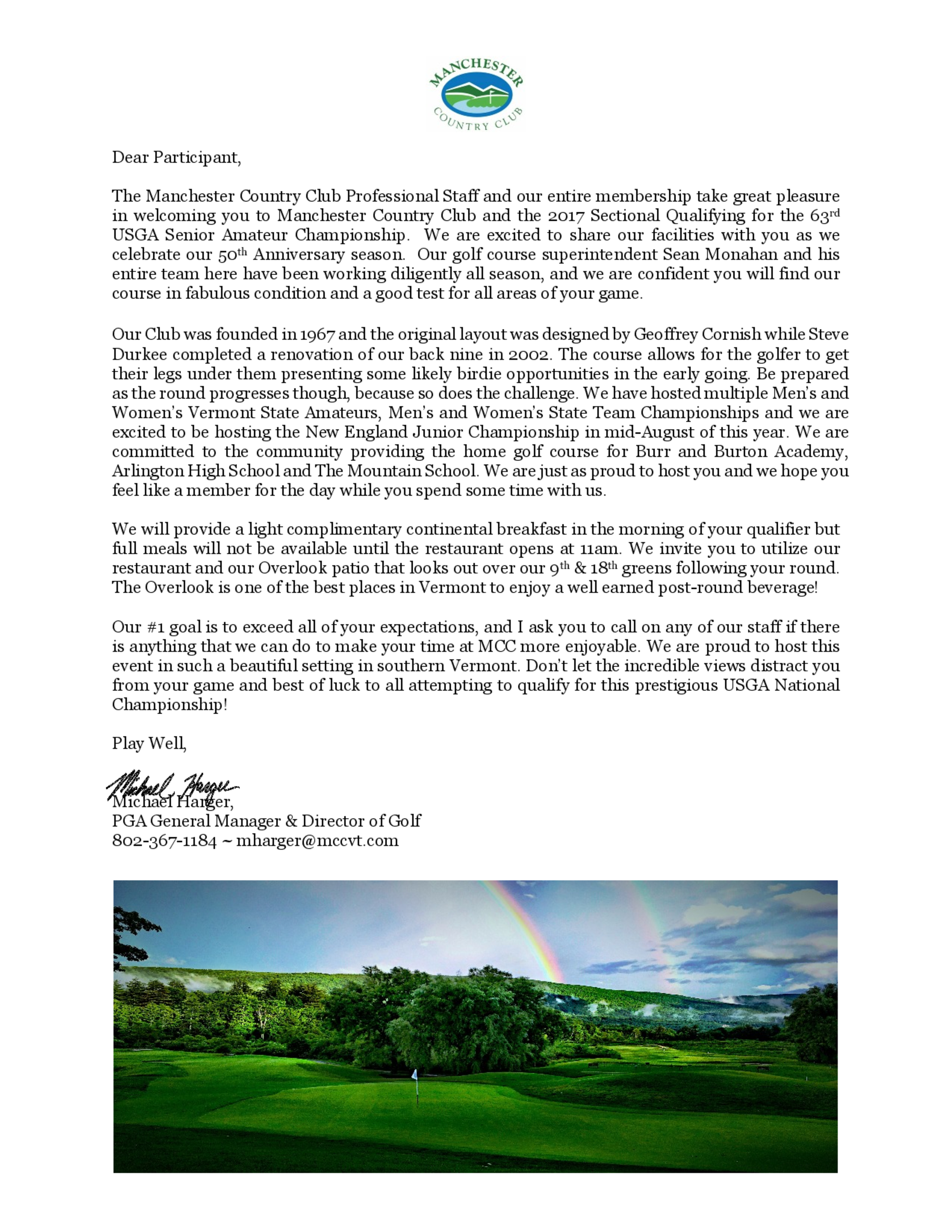 Senior am welcome letter 1