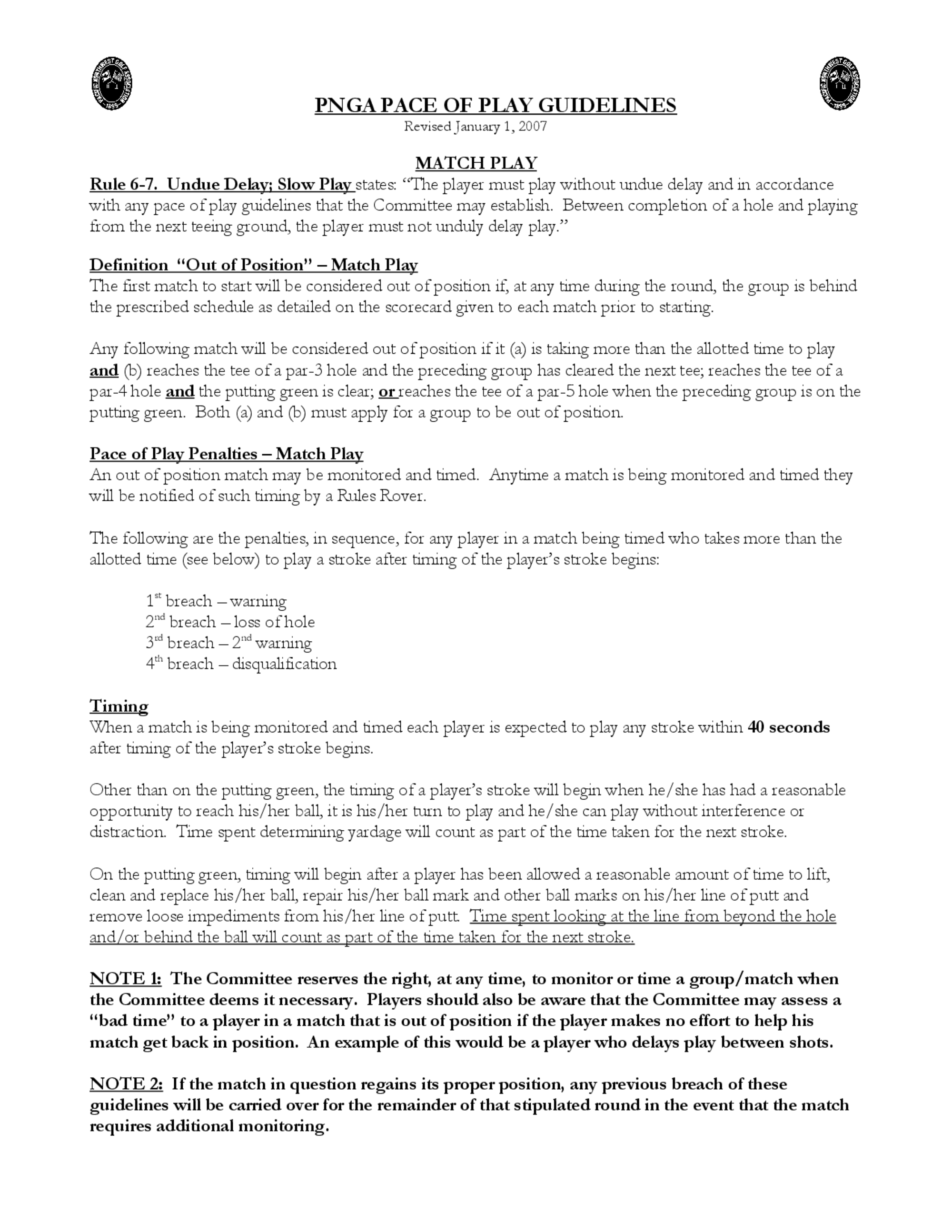 2007 pnga pace of play guidelines   match play  1