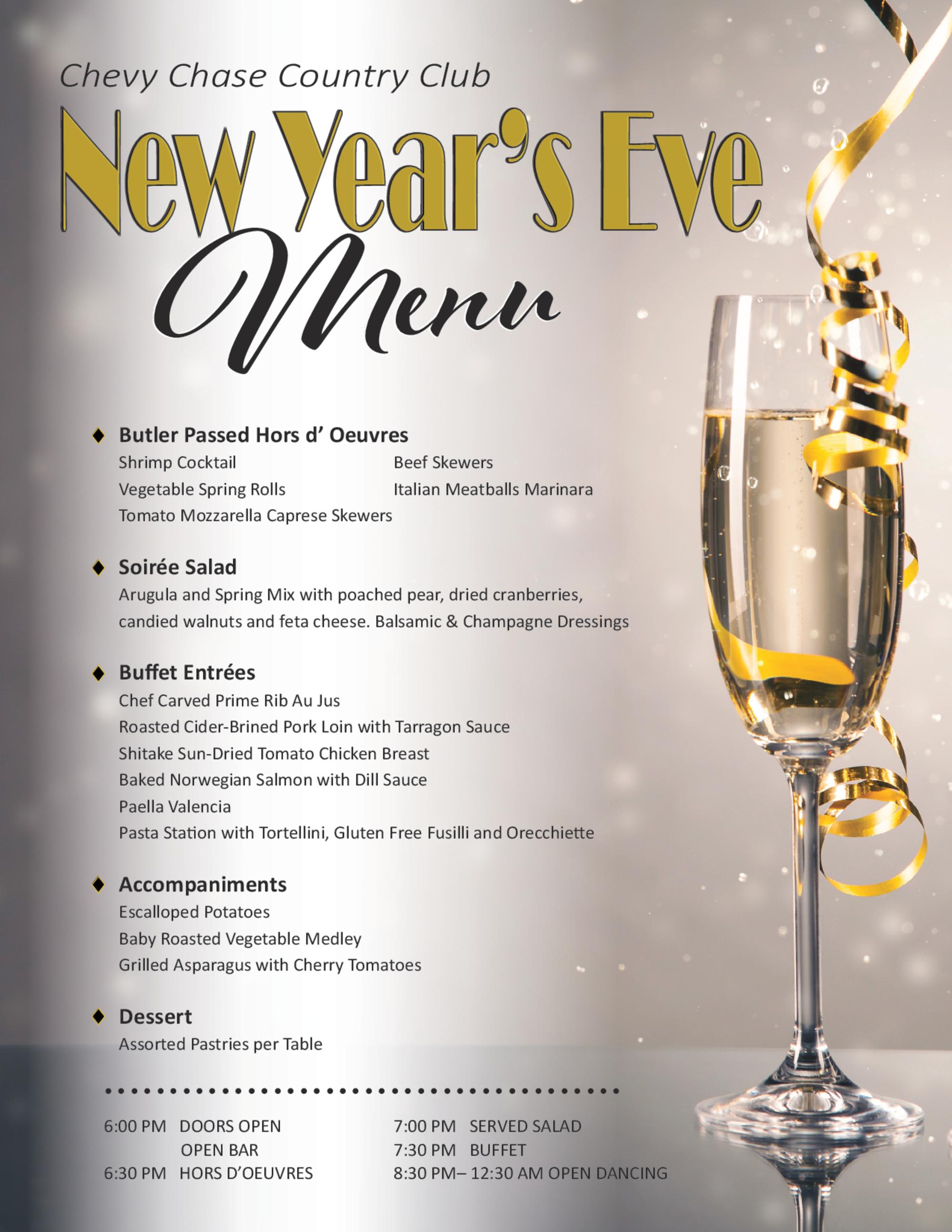 New years 2017 menu 1