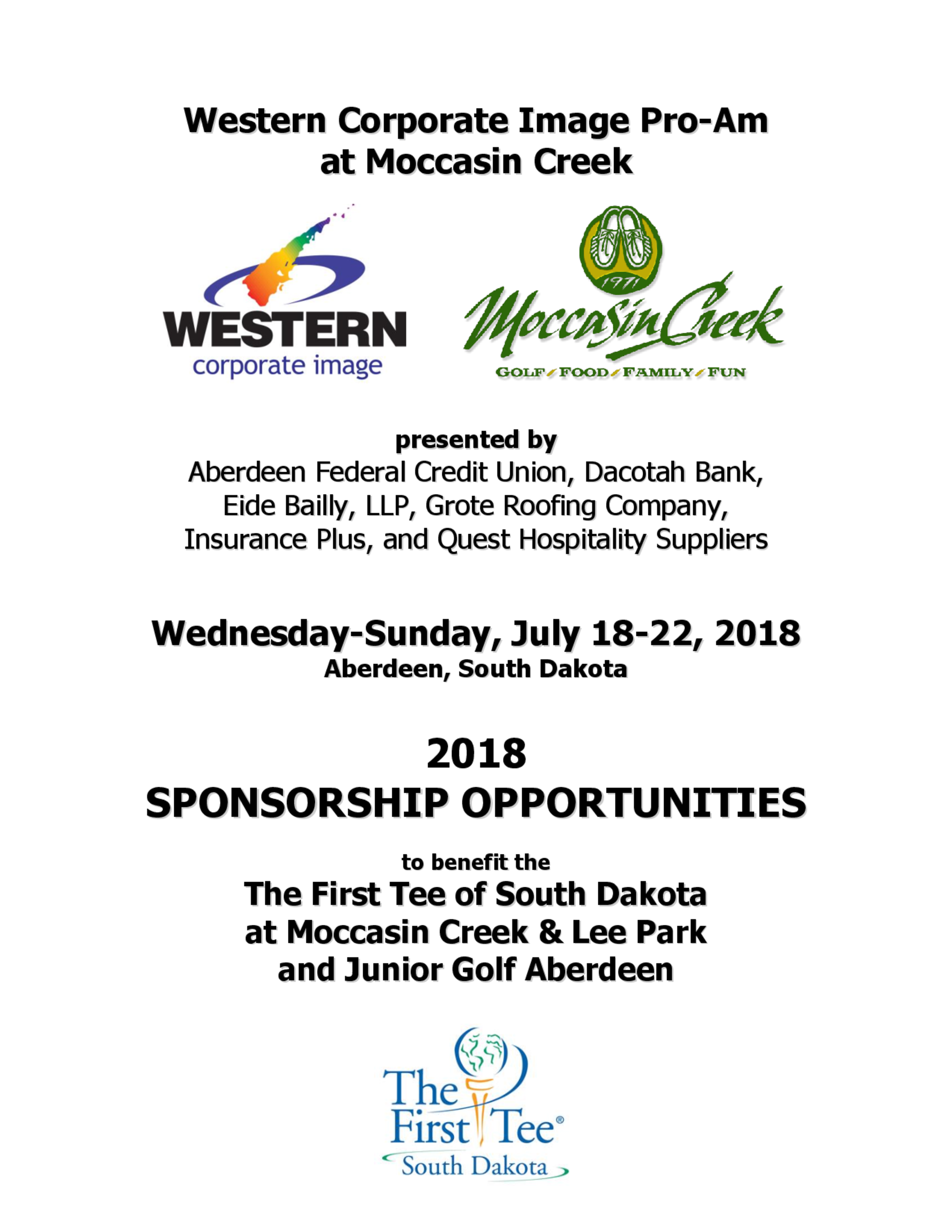 Sponsorship opportunities 2018 1