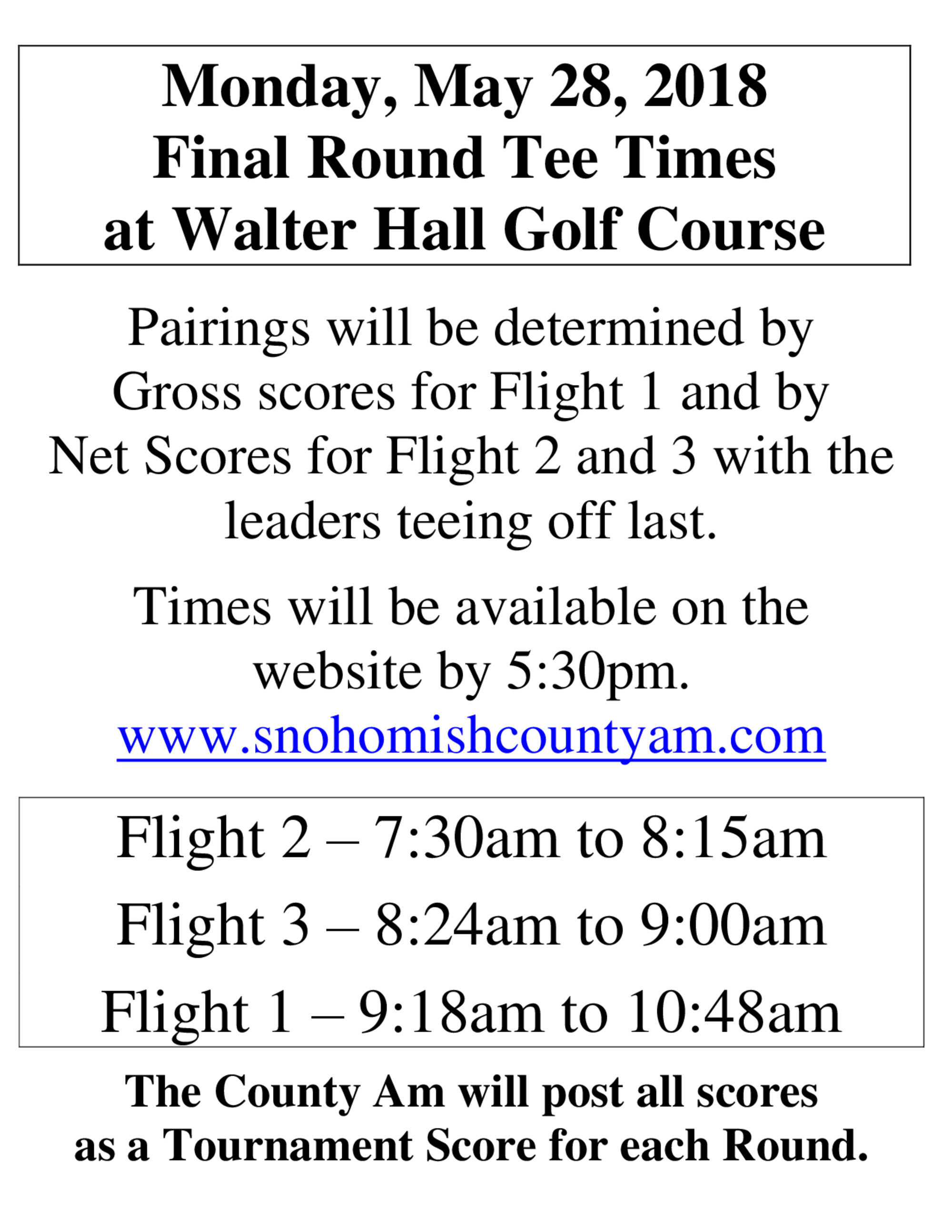 2018 sca round 3 tee time information 1