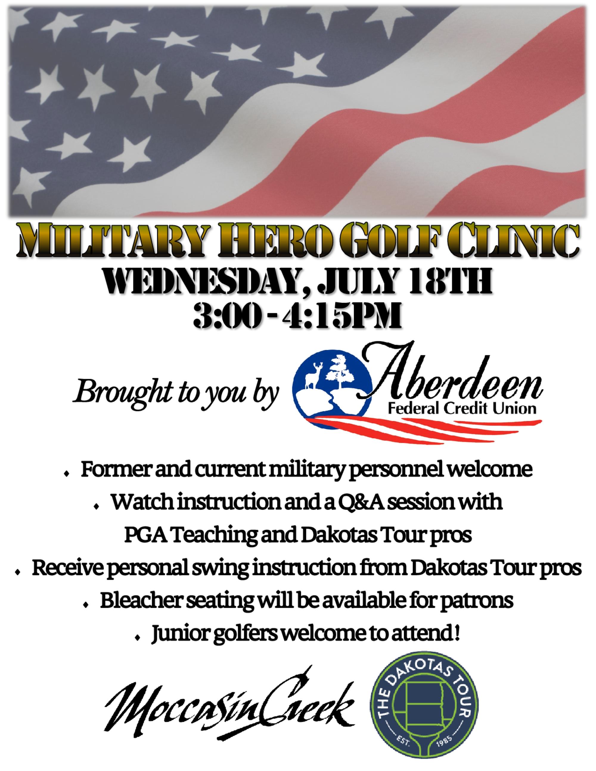 Pro am military hero golf clinic 2018 flyer 1