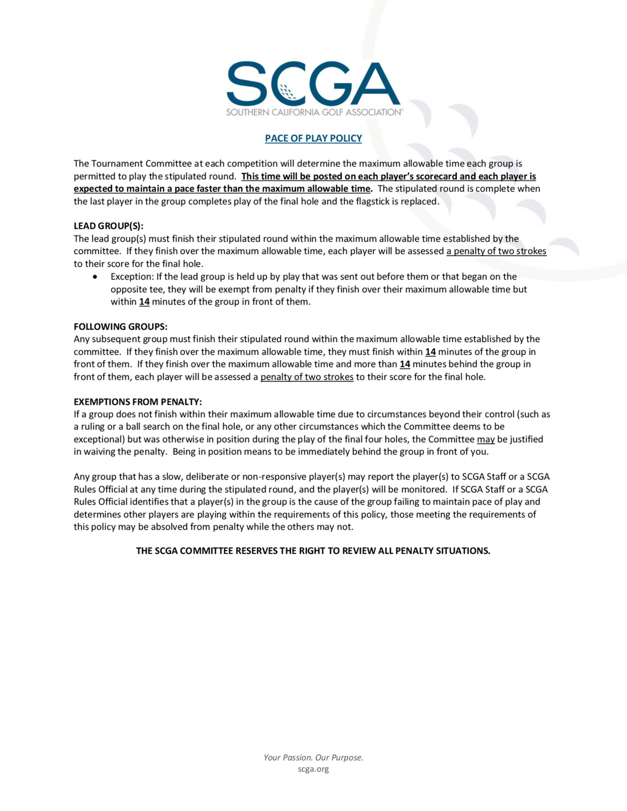 2018 scga pace of play policy   starting times 1