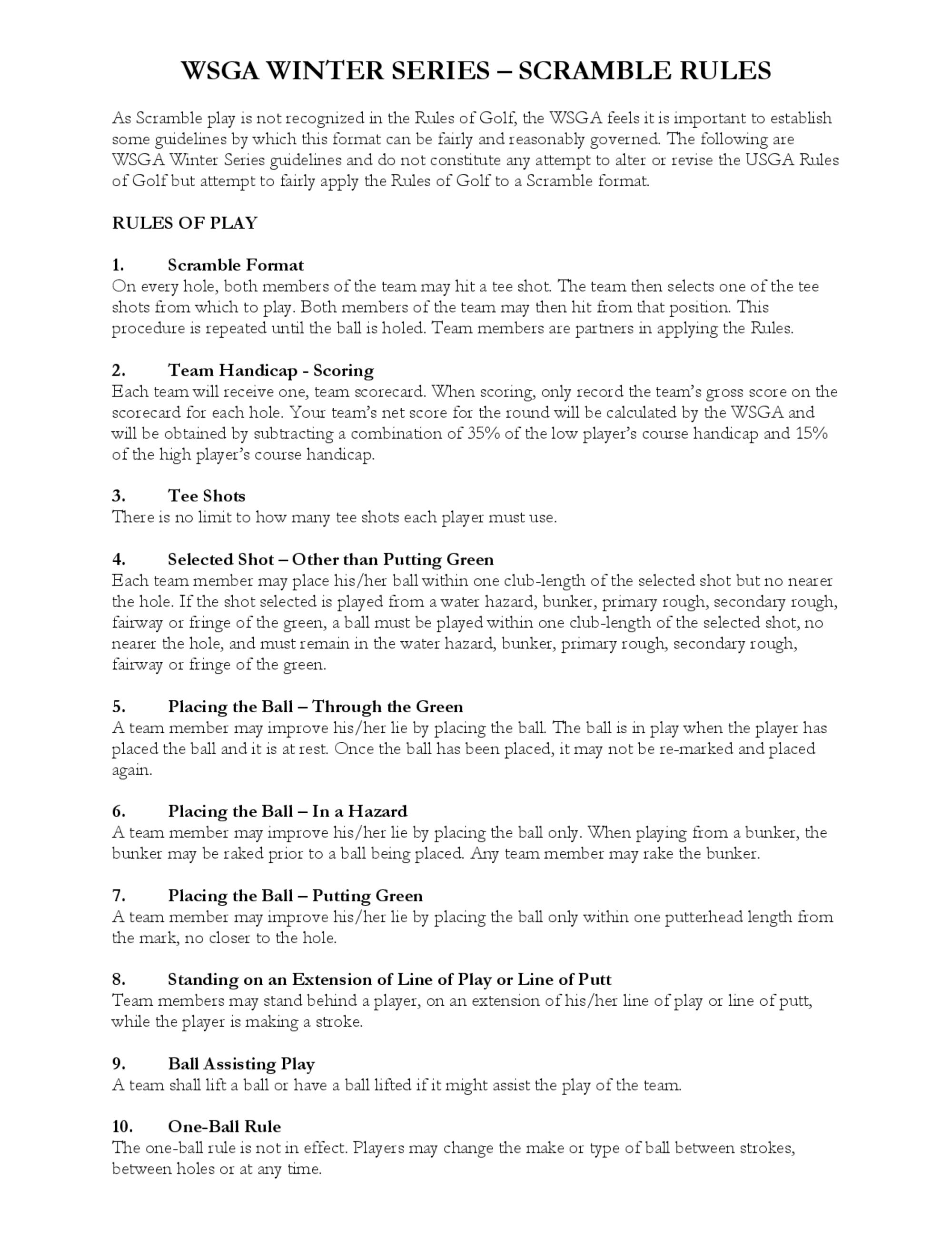 Scramble rules 1
