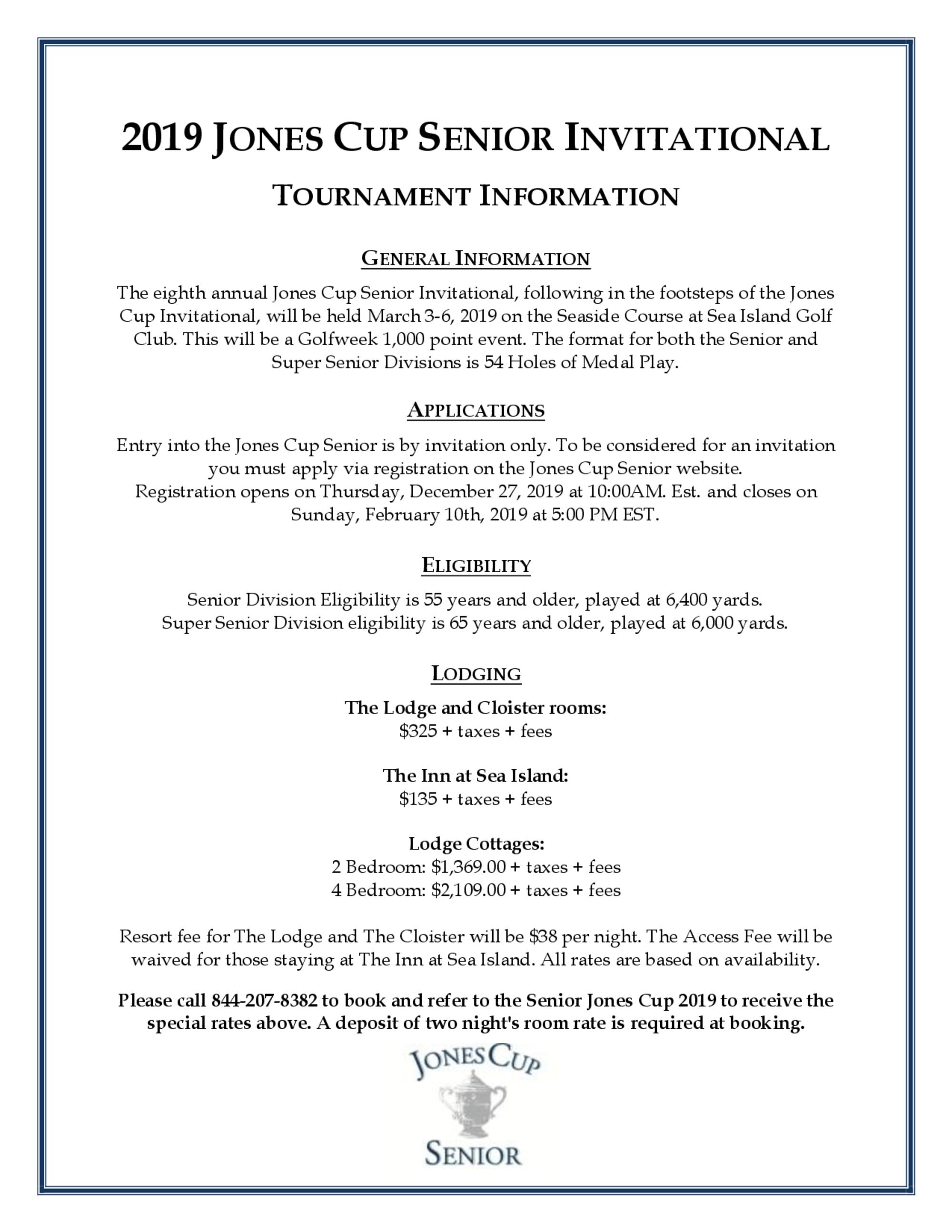 Tournament information for golf genius 2019 1