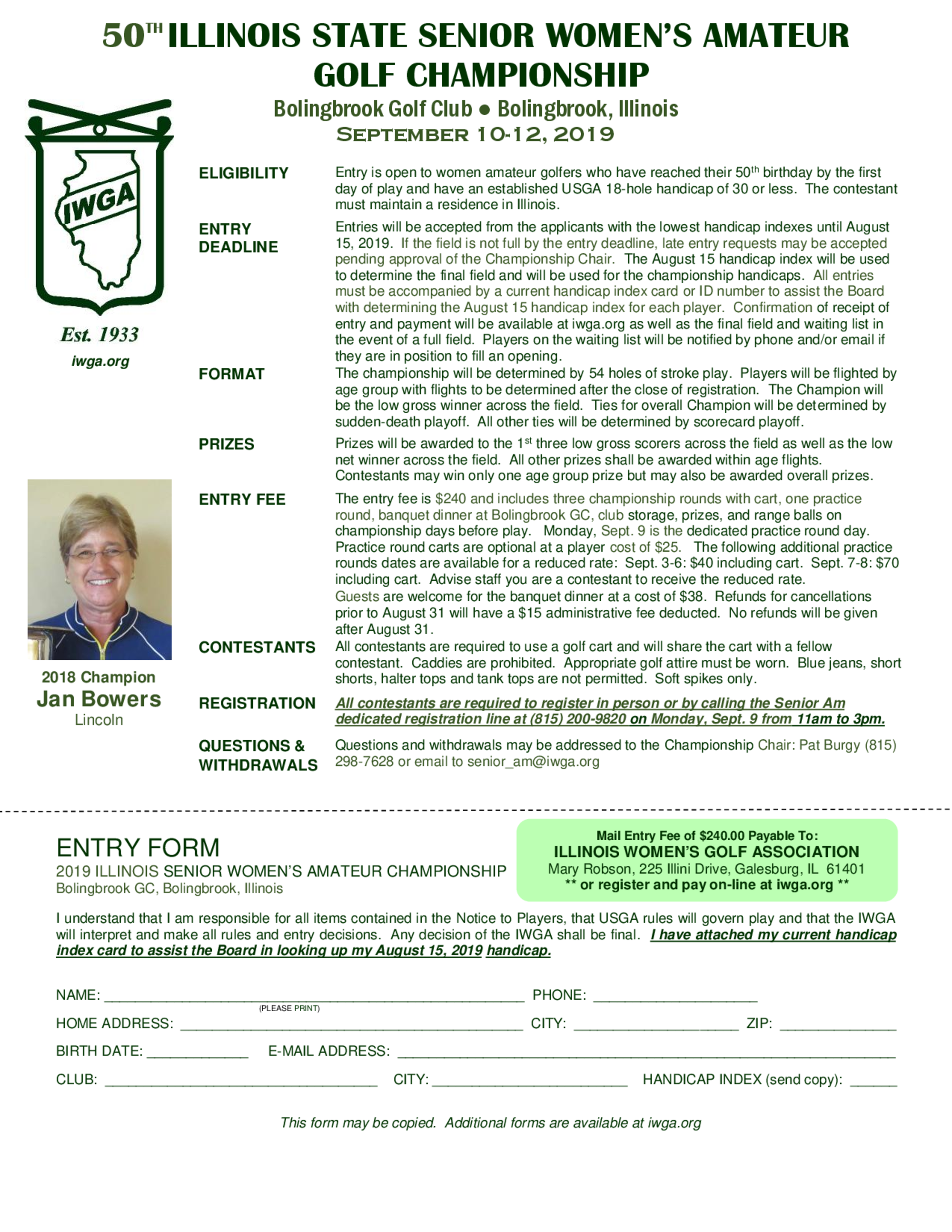 Current senior am entry form 1