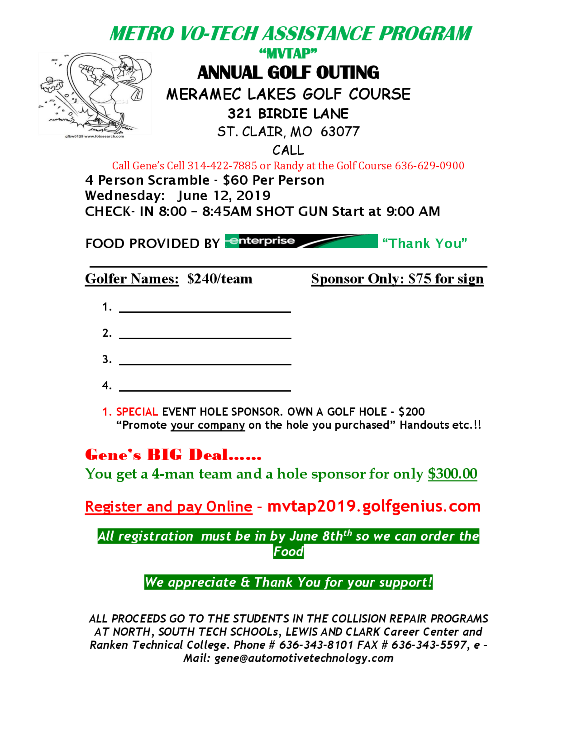 Votech golf outing 2019 flyer 1