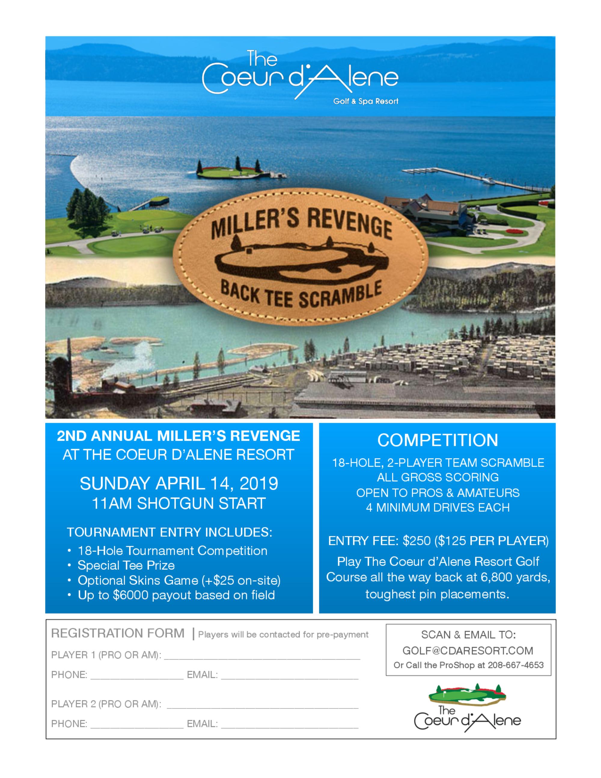 Millers revenge registration 1