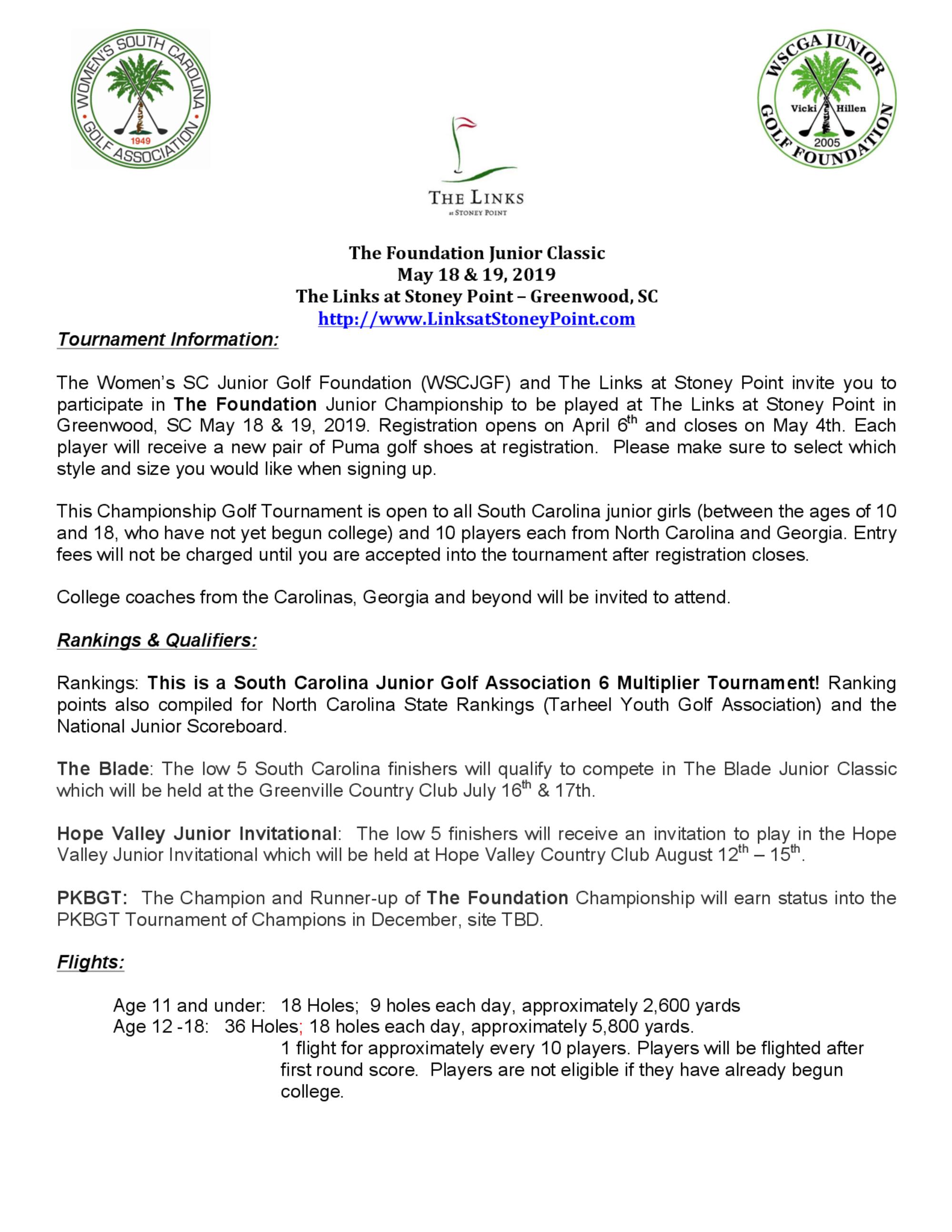 Tournament info 1