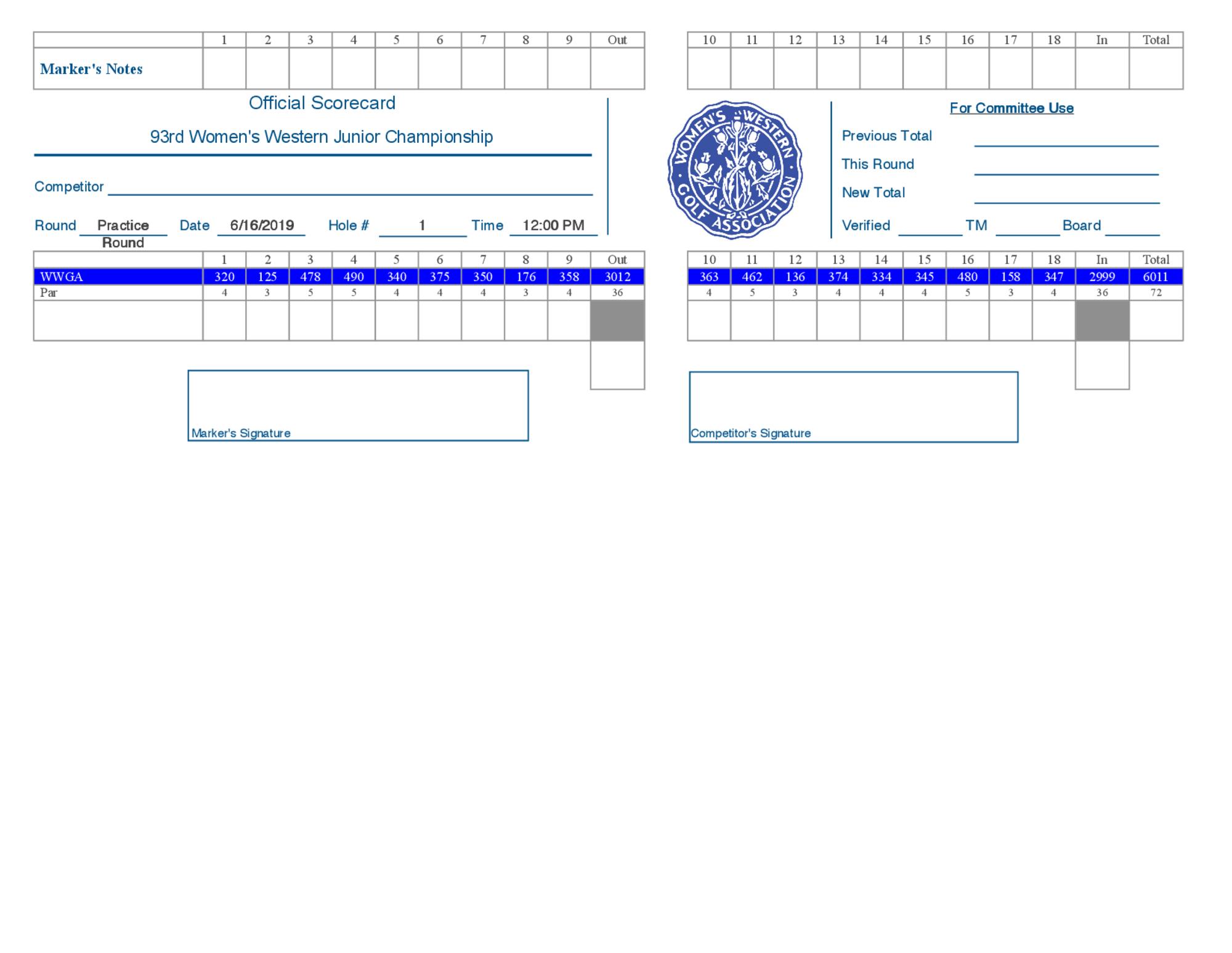 Scorecard   sample 1