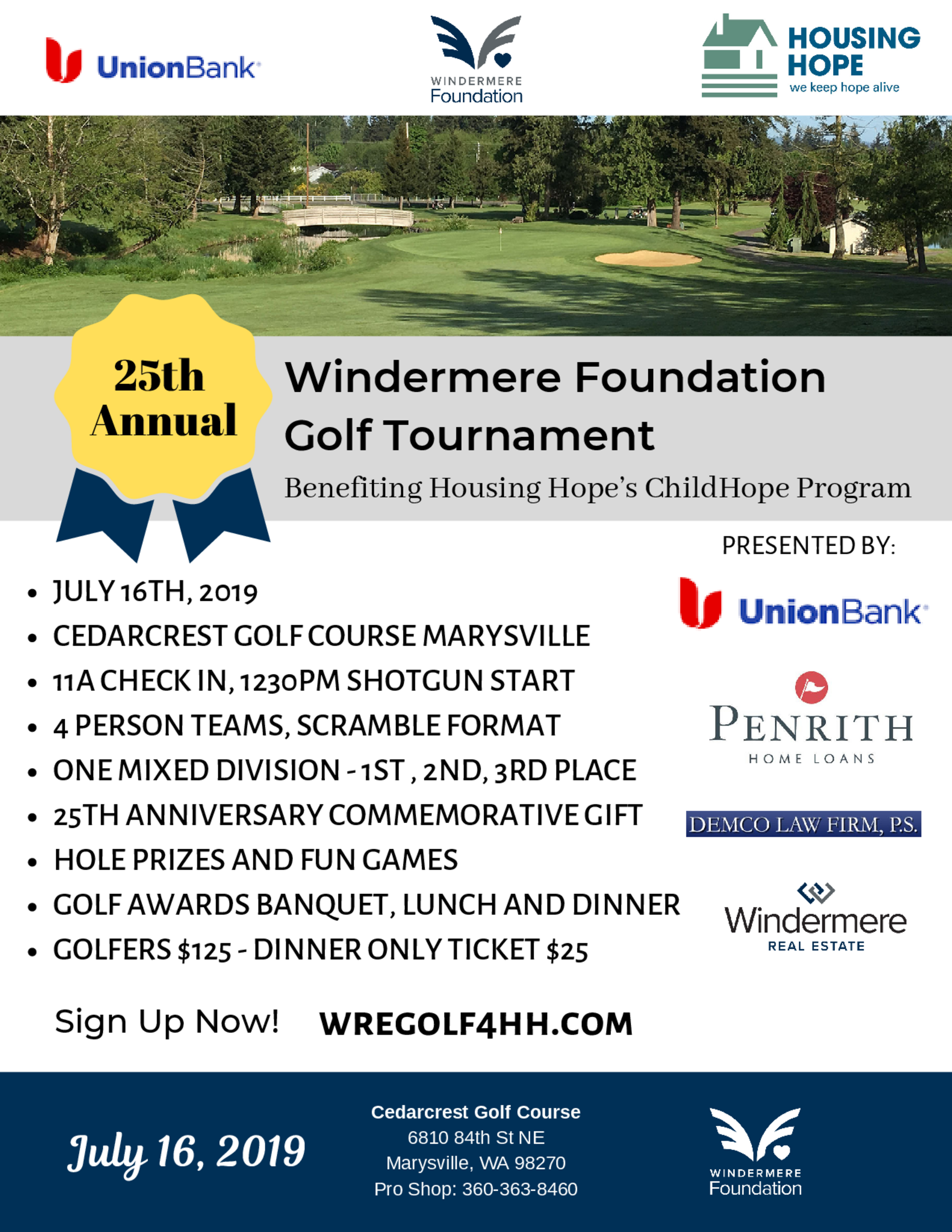 The 25th annual windermere foundation golf tournament  3  1