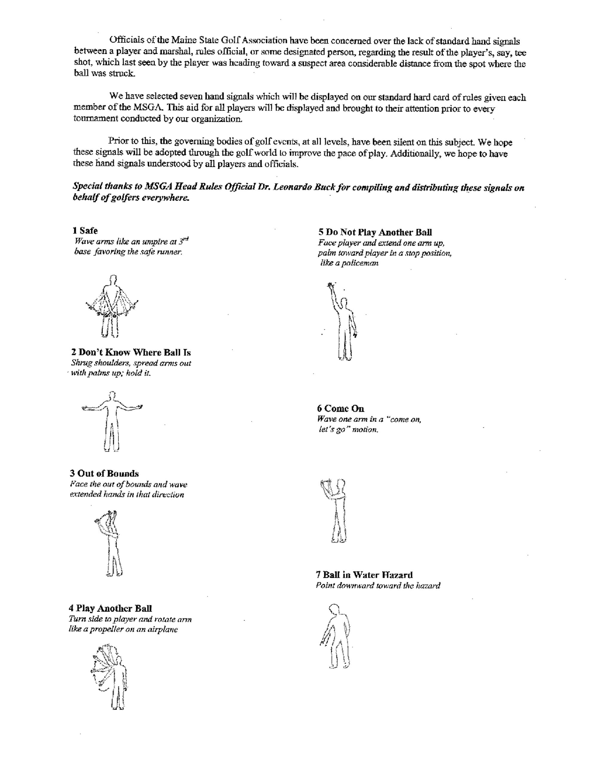 Hand signals  1  1