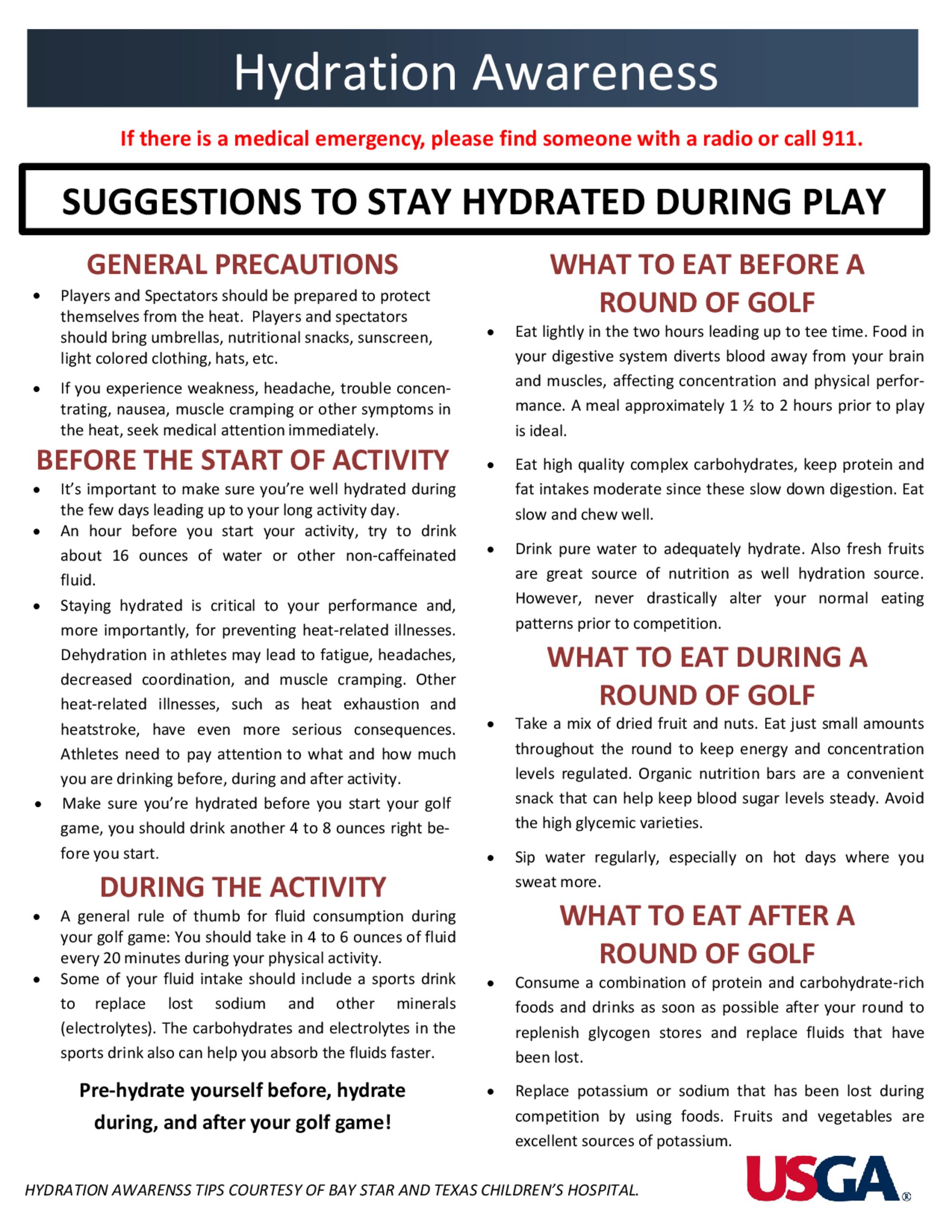 Hydration awareness flyer 1
