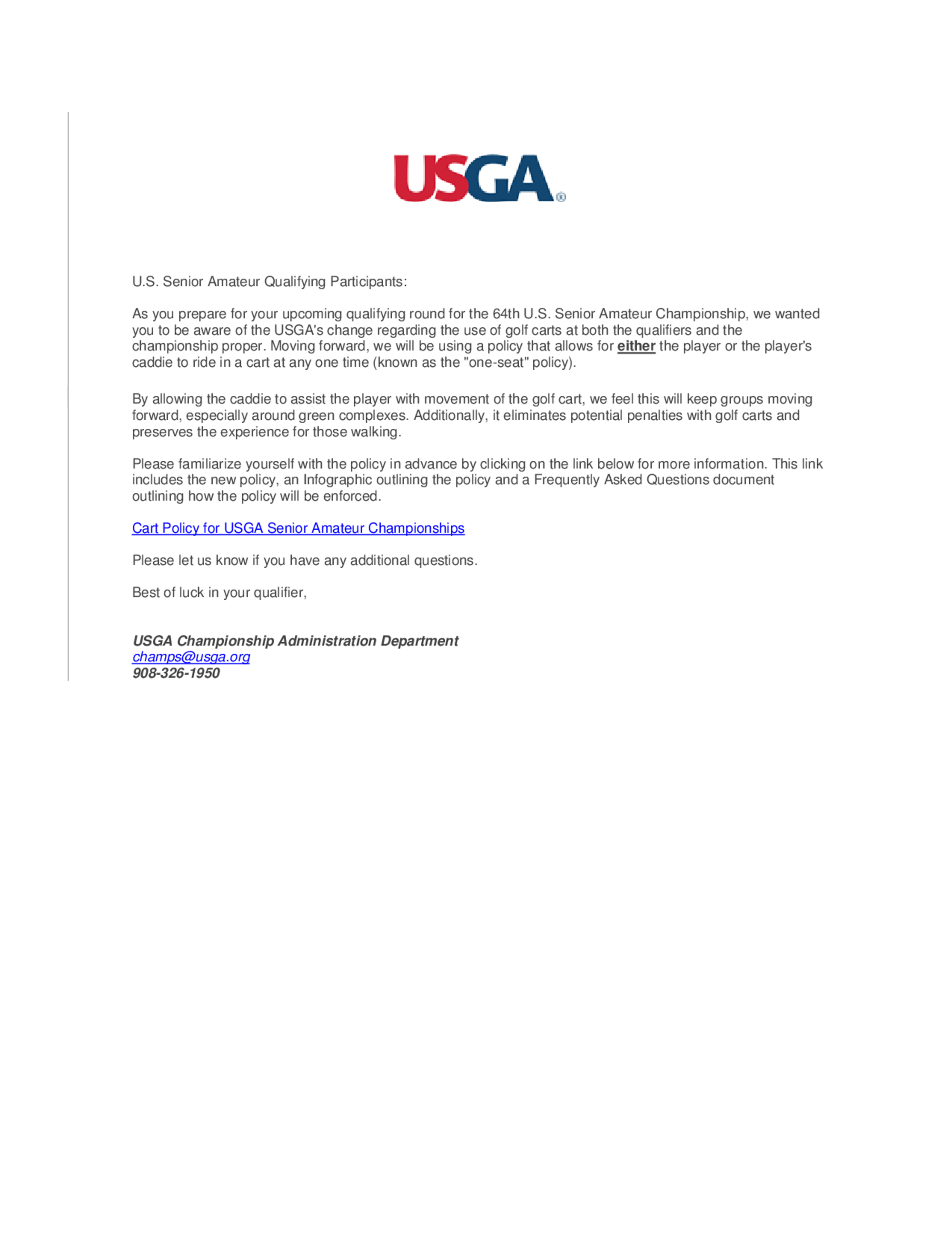 Cart policy letter 1