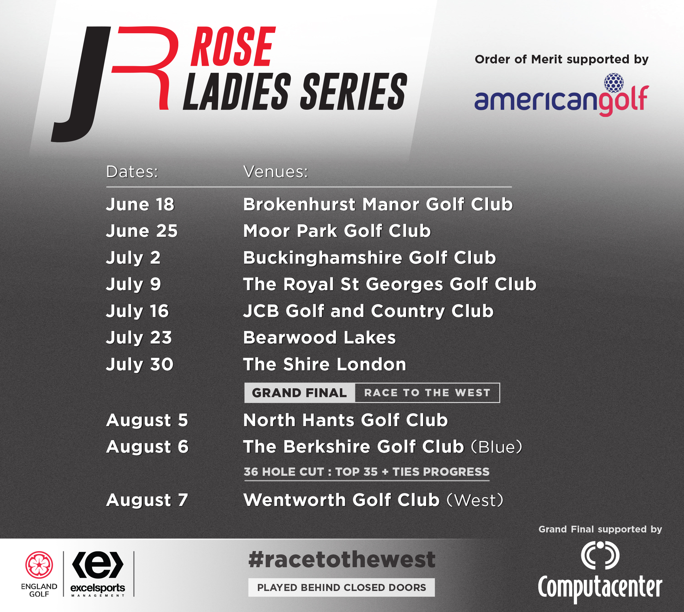Rose ladies series 10 venues
