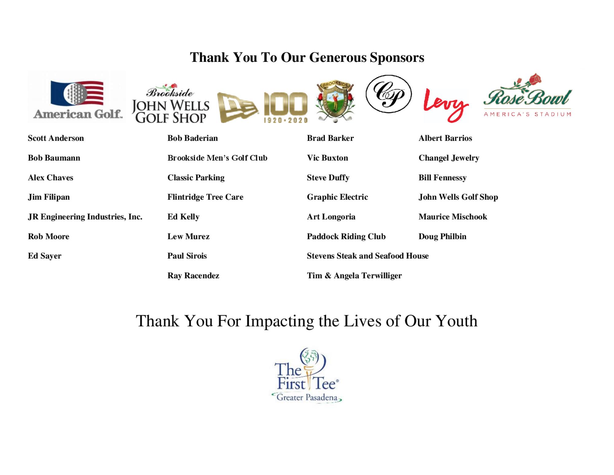 Pasadena city sponsors 1