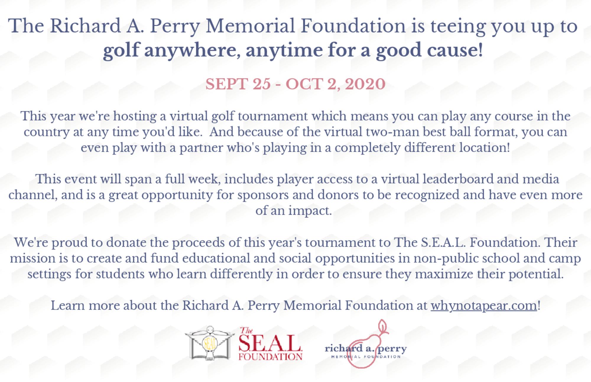 Richard a. perry memorial foundation virtual golf tournament flyer  1  1
