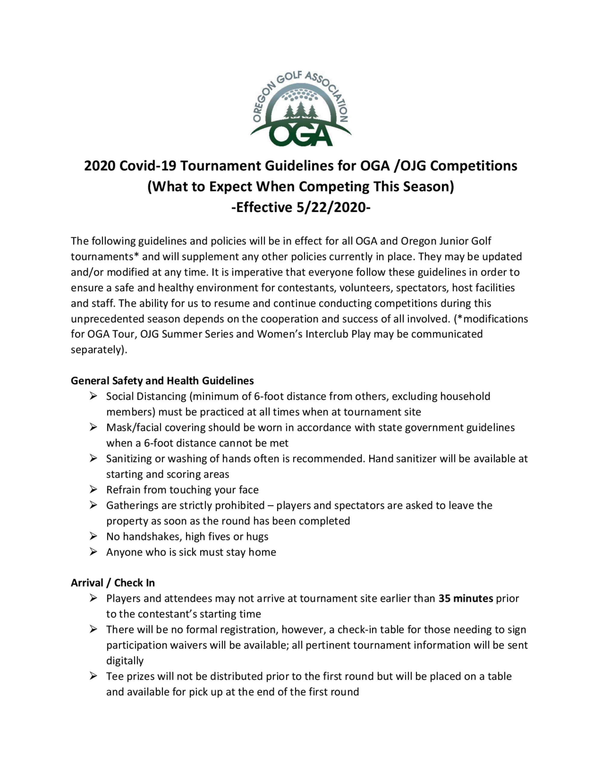 Oga 2020 covid guidelines for competitions 1