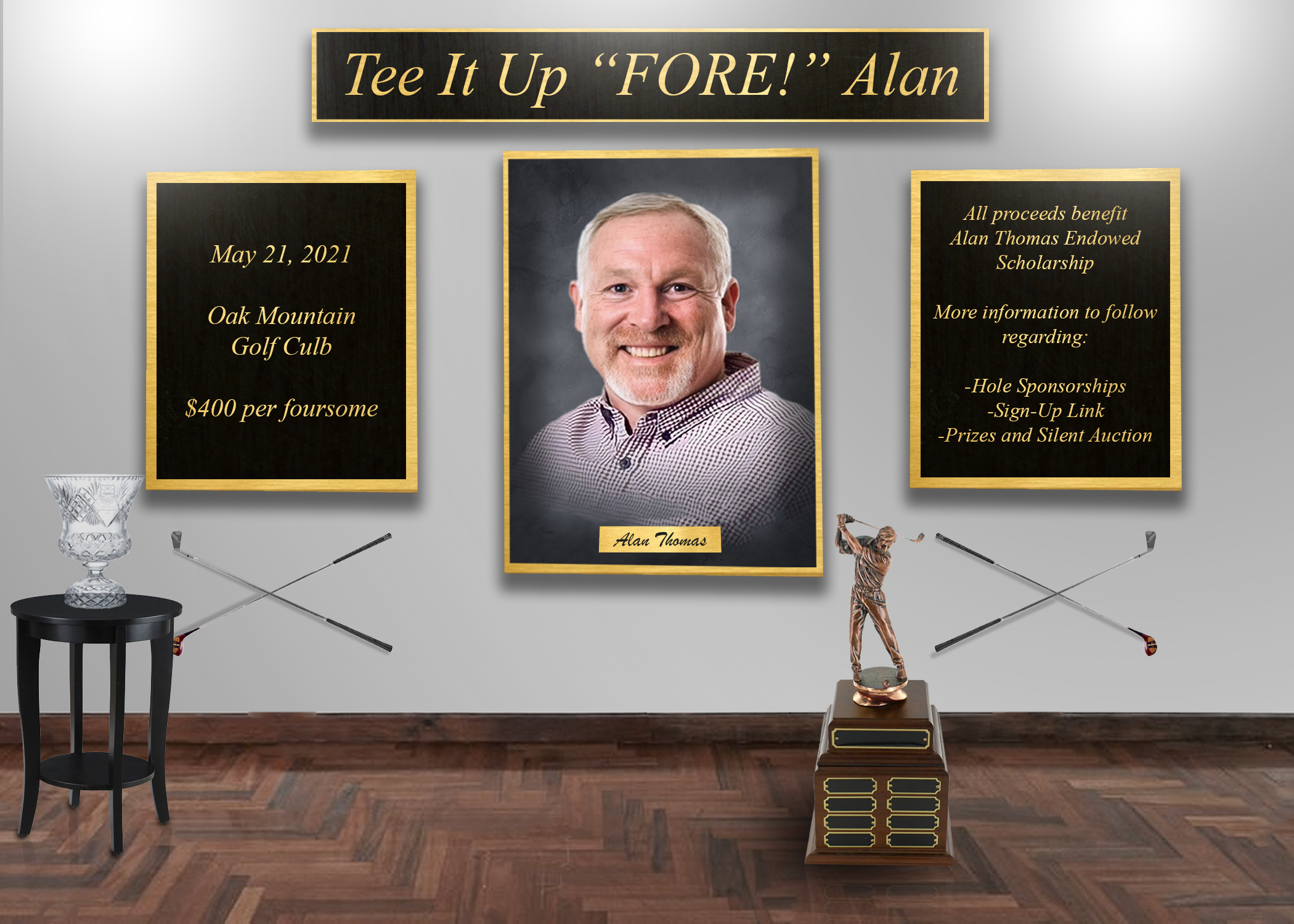 Tee it up  fore  alan