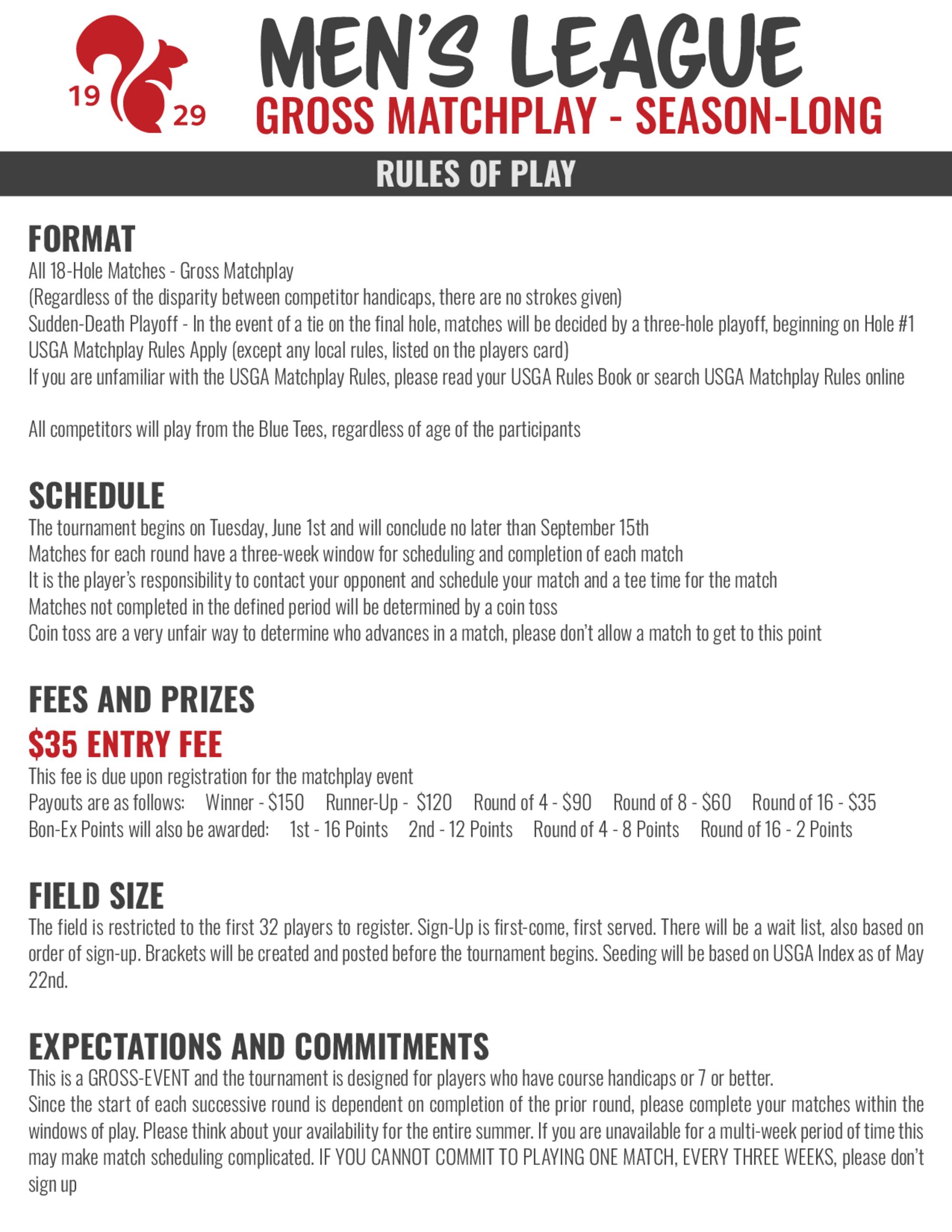 2021 men s league matchplay  new rules 1