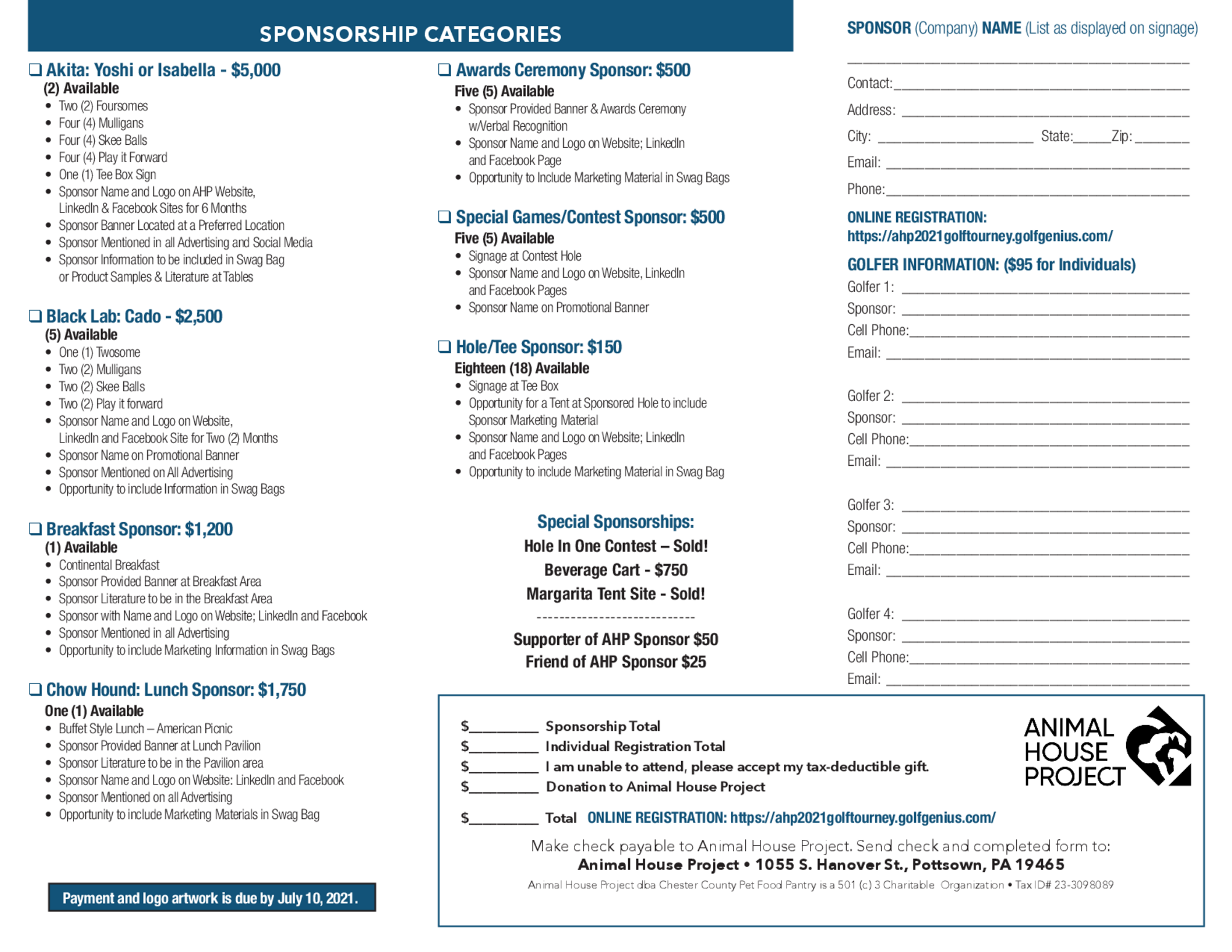 Ahp 2021 golf tournament 2021 05 26 sponsor page 1