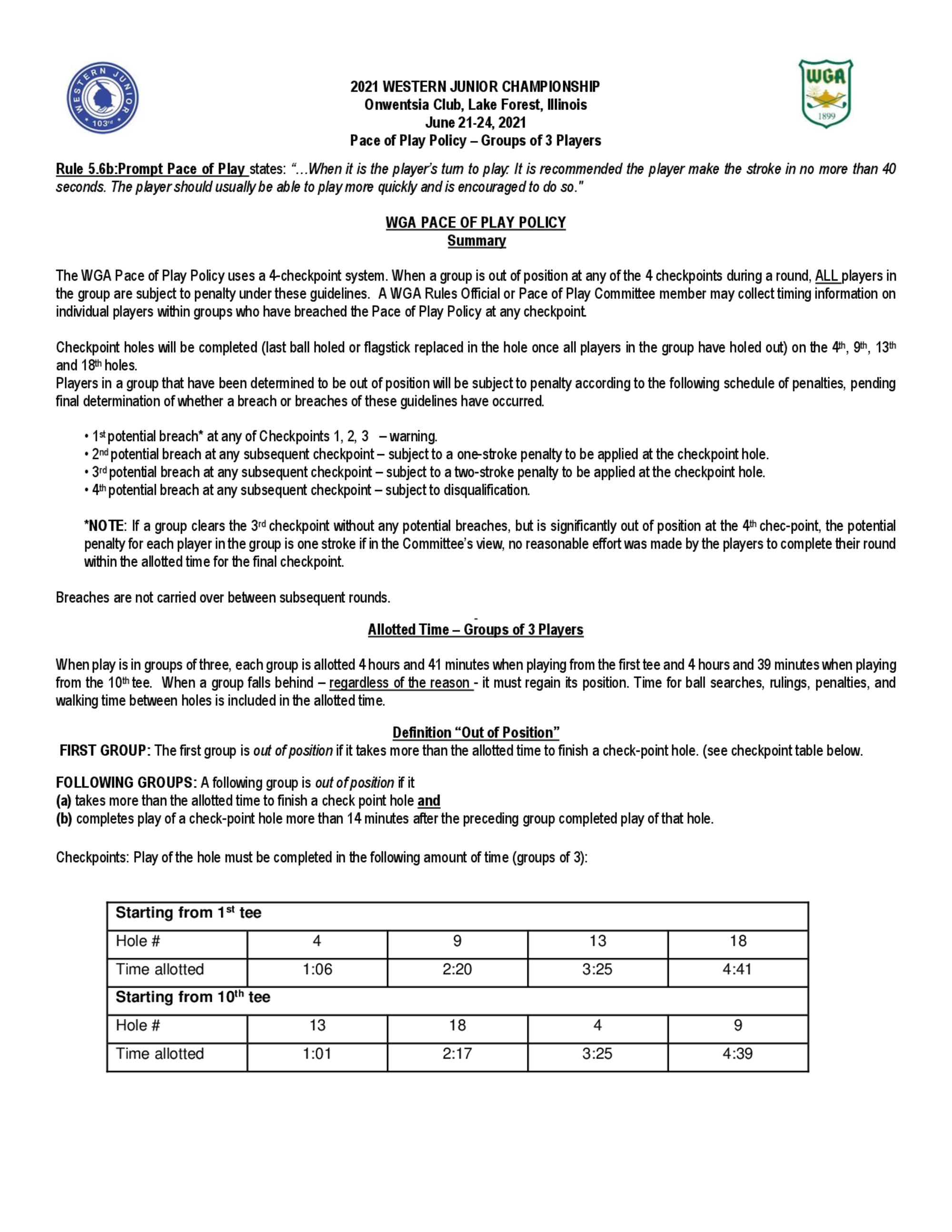 2021 western junior pop guidelines groups of 3 1