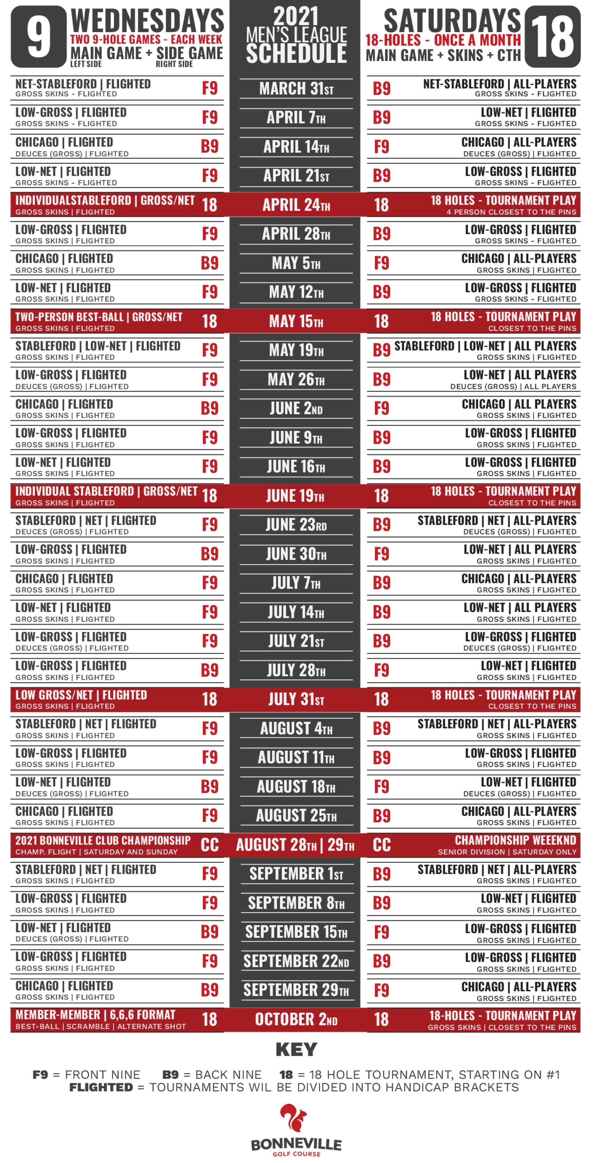 2021 men s league game schedule new 1