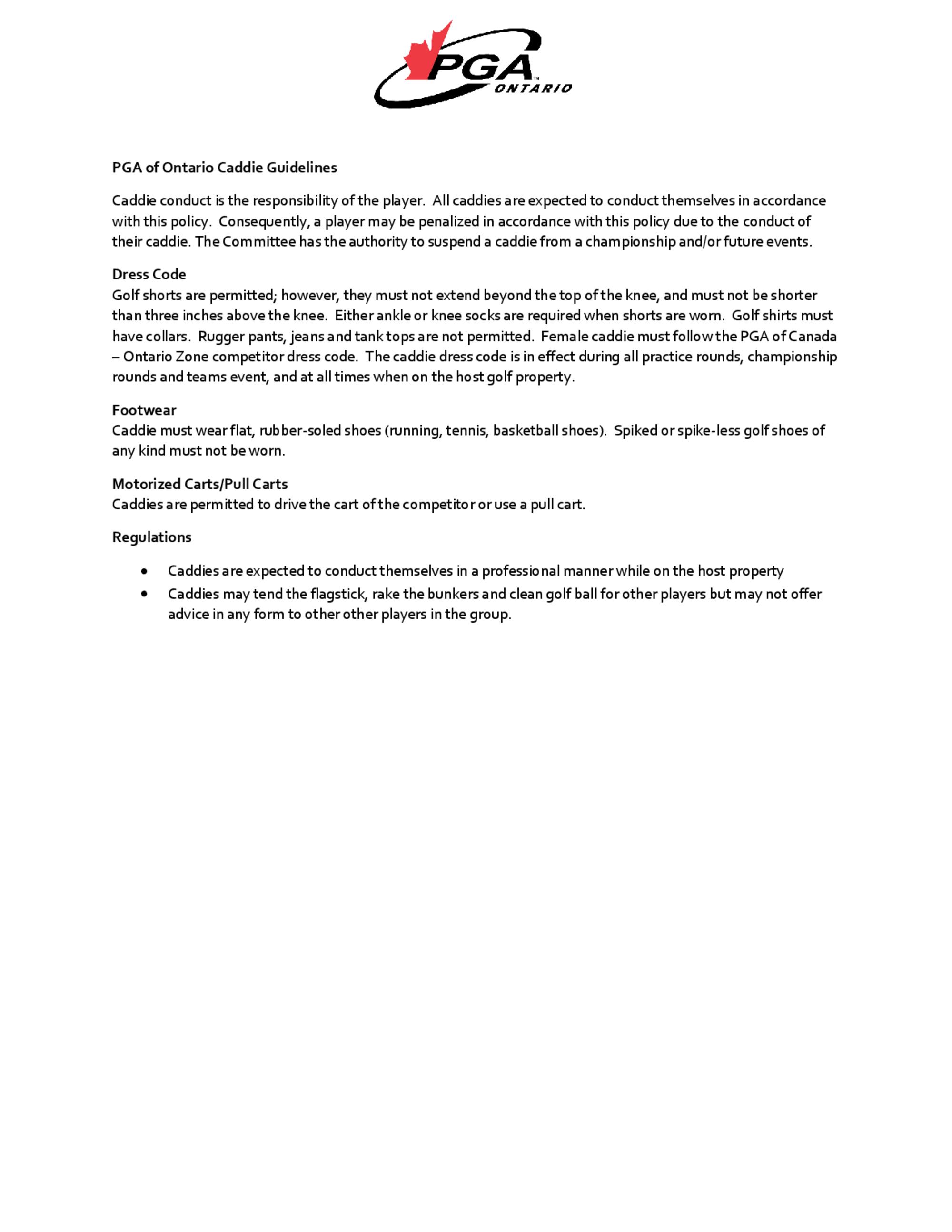 Ontario   caddie guidelines v1 1