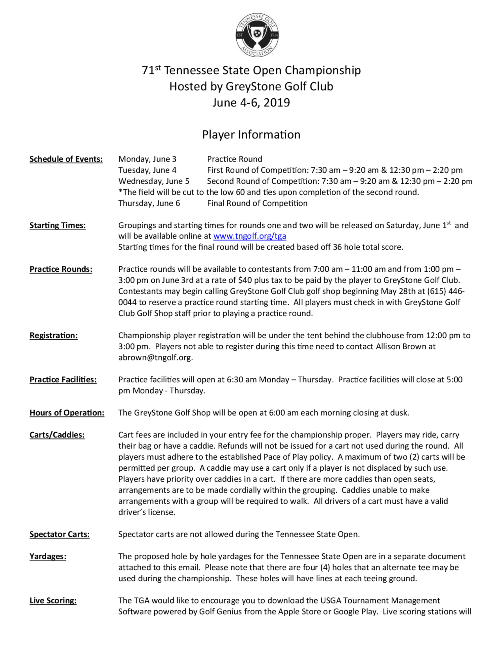 2019 state open player information 1